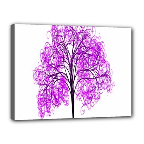 Purple Tree Canvas 16  x 12