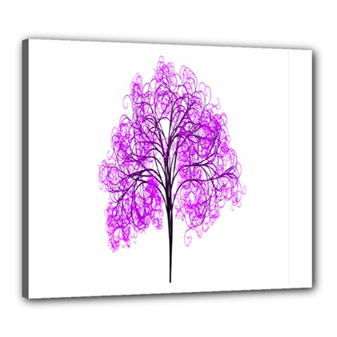 Purple Tree Canvas 24  x 20