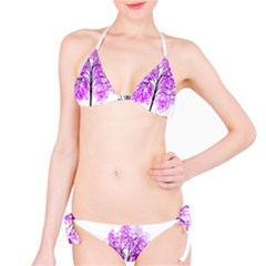 Purple Tree Bikini Set