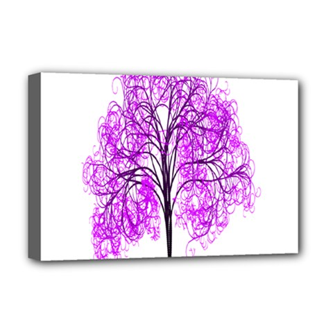 Purple Tree Deluxe Canvas 18  x 12