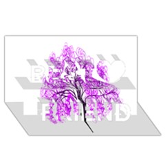 Purple Tree Best Friends 3D Greeting Card (8x4)