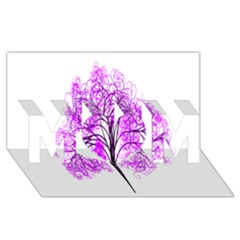 Purple Tree MOM 3D Greeting Card (8x4)