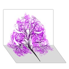 Purple Tree Clover 3D Greeting Card (7x5)