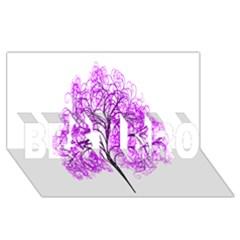 Purple Tree BEST BRO 3D Greeting Card (8x4)