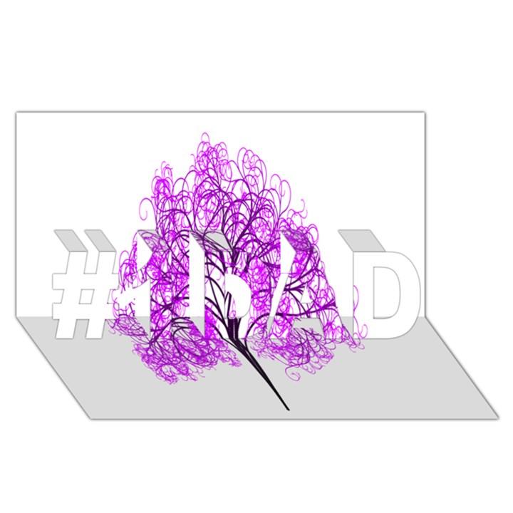 Purple Tree #1 DAD 3D Greeting Card (8x4)