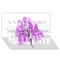 Purple Tree Congrats Graduate 3D Greeting Card (8x4)