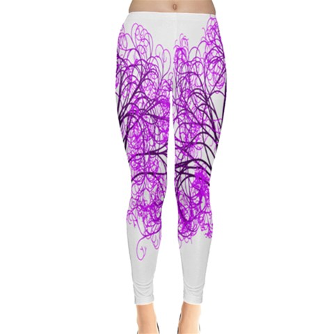 Purple Tree Leggings