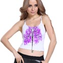 Purple Tree Spaghetti Strap Bra Top View1