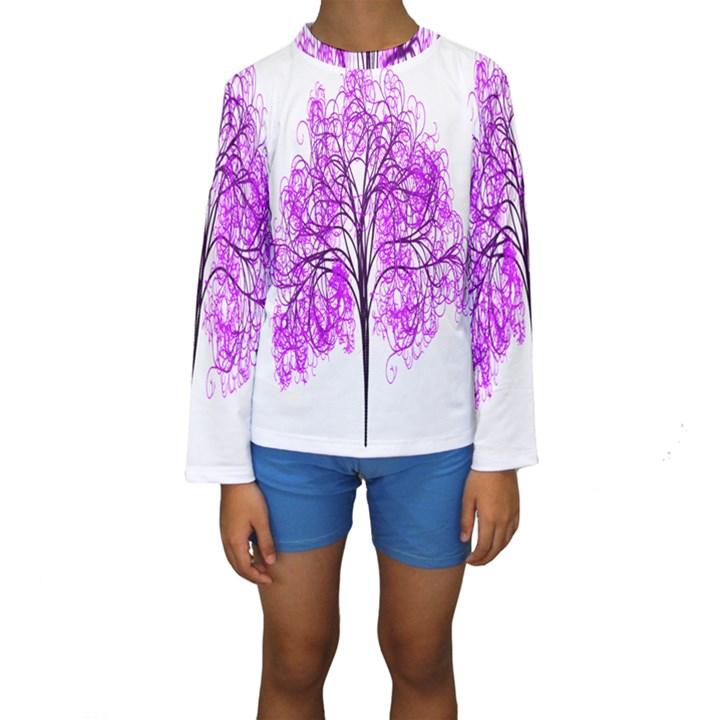 Purple Tree Kids  Long Sleeve Swimwear