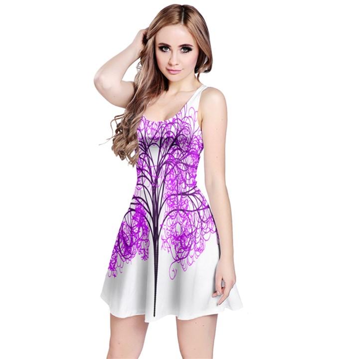 Purple Tree Reversible Sleeveless Dress