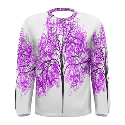 Purple Tree Men s Long Sleeve Tee