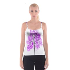 Purple Tree Spaghetti Strap Top