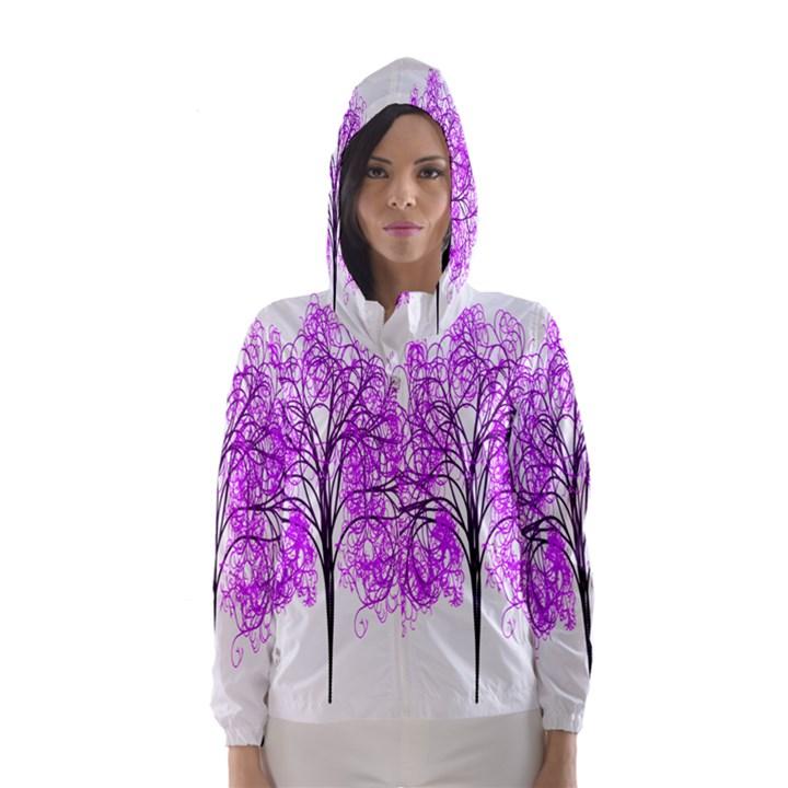 Purple Tree Hooded Wind Breaker (Women)