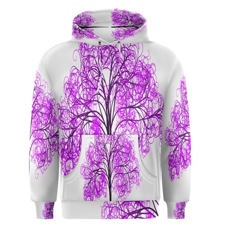 Purple Tree Men s Pullover Hoodie