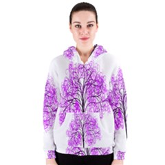 Purple Tree Women s Zipper Hoodie