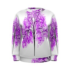 Purple Tree Women s Sweatshirt