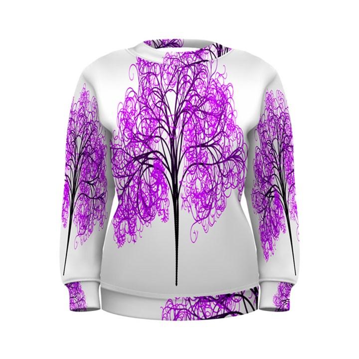 Purple Tree Women s Sweatshirt