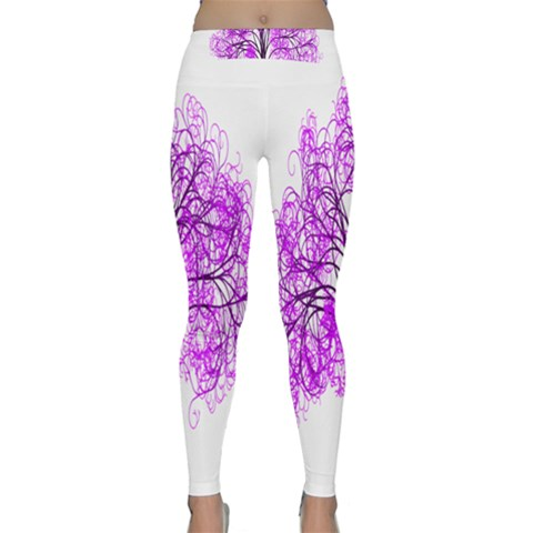 Purple Tree Yoga Leggings