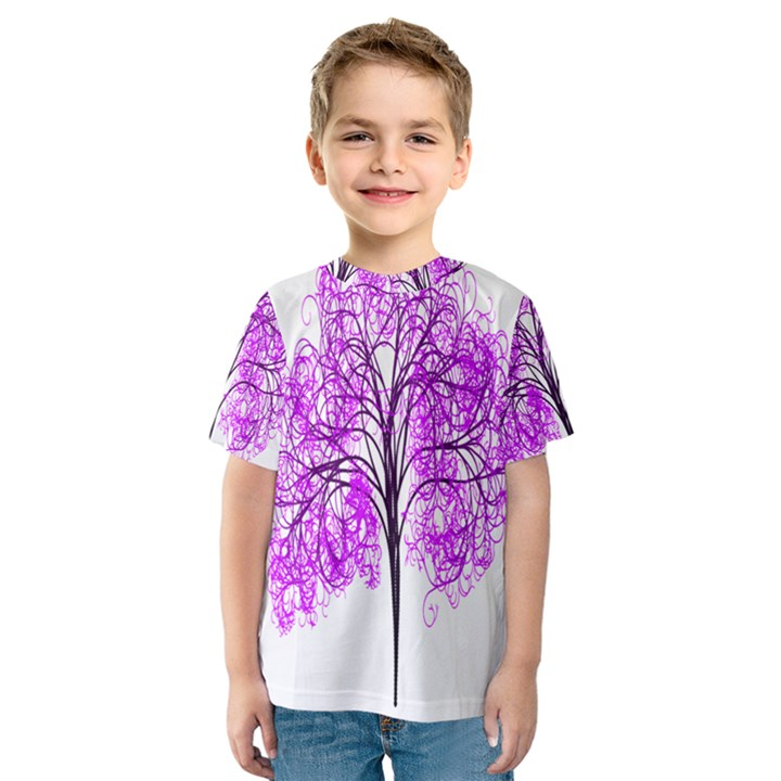 Purple Tree Kids  Sport Mesh Tee