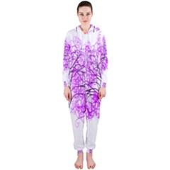 Purple Tree Hooded Jumpsuit (Ladies)