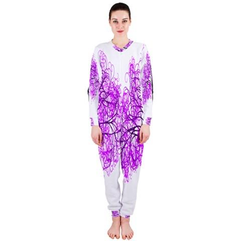 Purple Tree OnePiece Jumpsuit (Ladies)