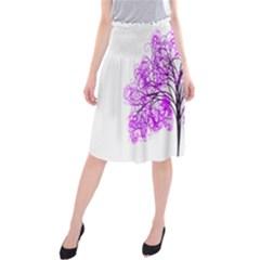 Purple Tree Midi Beach Skirt