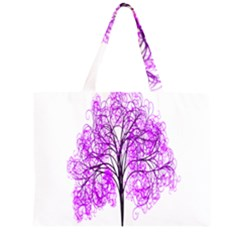 Purple Tree Large Tote Bag