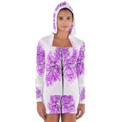 Purple Tree Women s Long Sleeve Hooded T-shirt