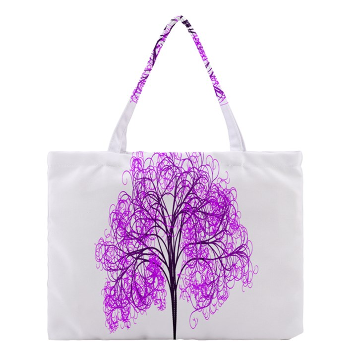 Purple Tree Medium Tote Bag