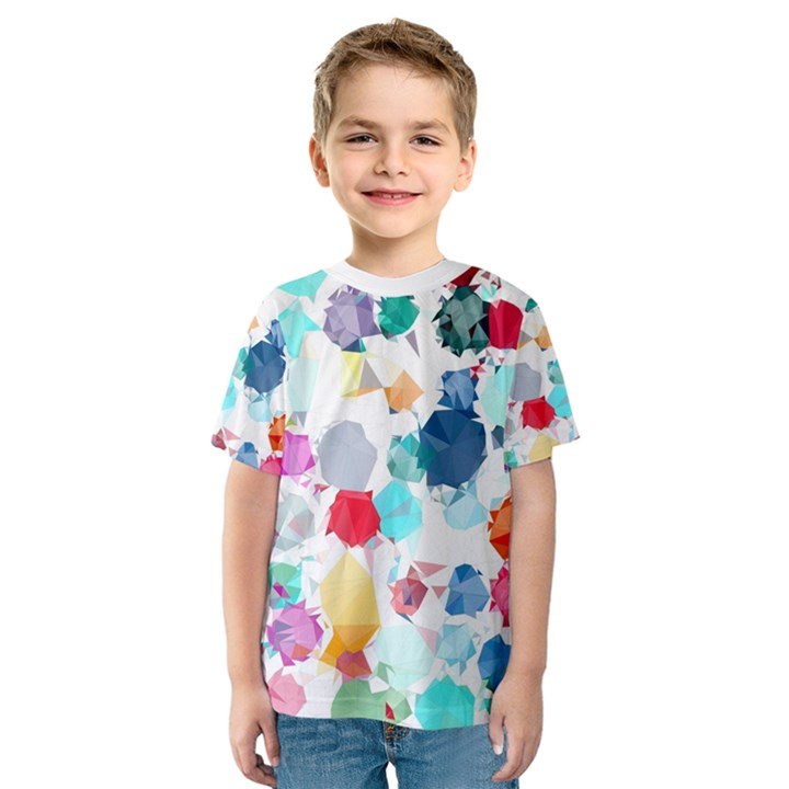 Colorful Diamonds Dream Kids  Sport Mesh Tee