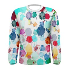 Colorful Diamonds Dream Men s Long Sleeve Tee