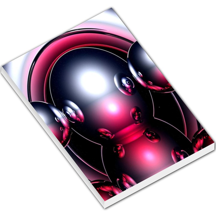 Red 3d  Computer Work Large Memo Pads