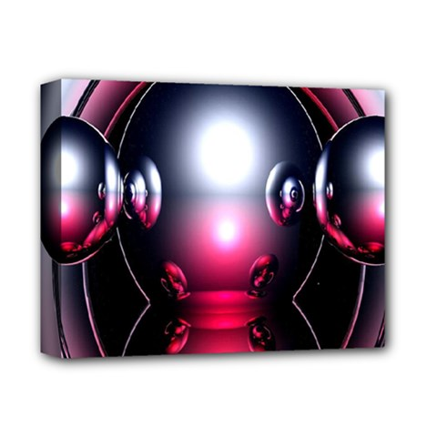 Red 3d  Computer Work Deluxe Canvas 14  x 11