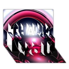 Red 3d  Computer Work THANK YOU 3D Greeting Card (7x5)
