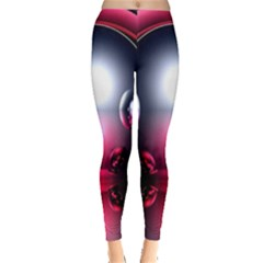 Red 3d  Computer Work Leggings