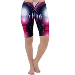 Red 3d  Computer Work Cropped Leggings