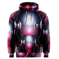 Red 3d  Computer Work Men s Pullover Hoodie