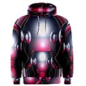 Red 3d  Computer Work Men s Pullover Hoodie View1
