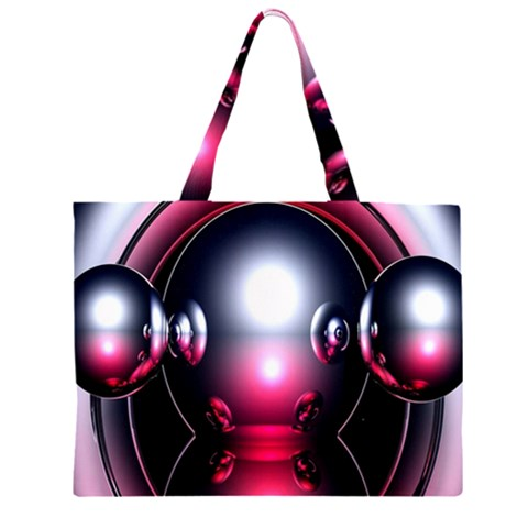 Red 3d  Computer Work Large Tote Bag
