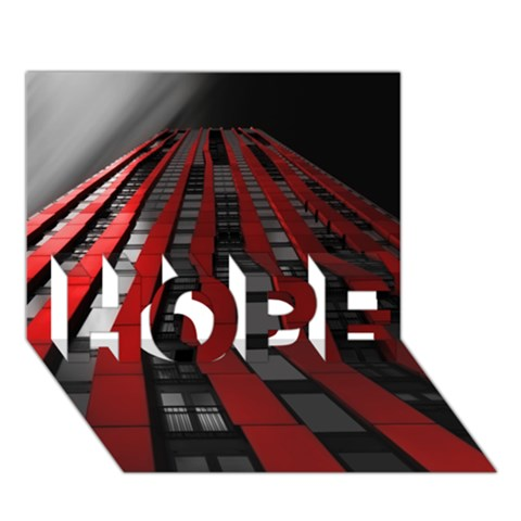 Red Building City HOPE 3D Greeting Card (7x5)