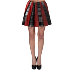 Red Building City Skater Skirt
