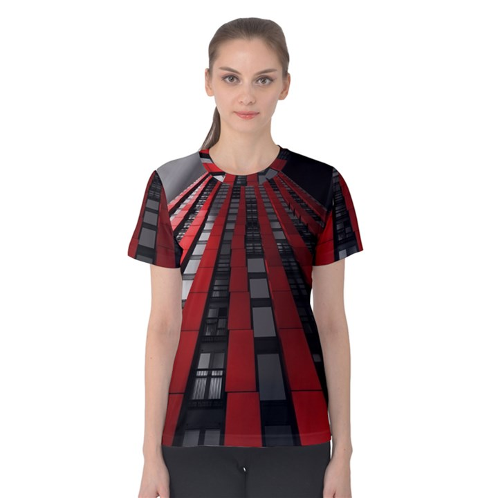 Red Building City Women s Cotton Tee
