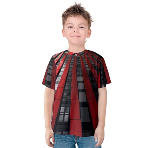Red Building City Kids  Cotton Tee