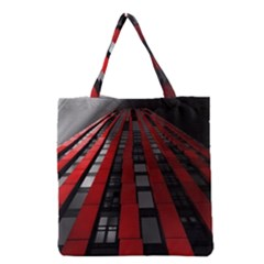 Red Building City Grocery Tote Bag