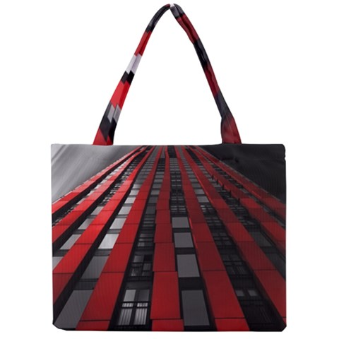 Red Building City Mini Tote Bag