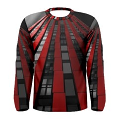 Red Building City Men s Long Sleeve Tee