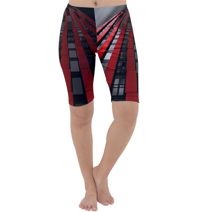 Red Building City Cropped Leggings