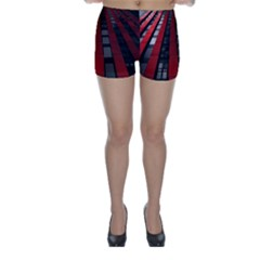 Red Building City Skinny Shorts