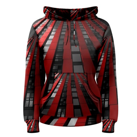 Red Building City Women s Pullover Hoodie