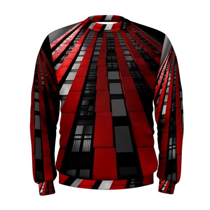 Red Building City Men s Sweatshirt